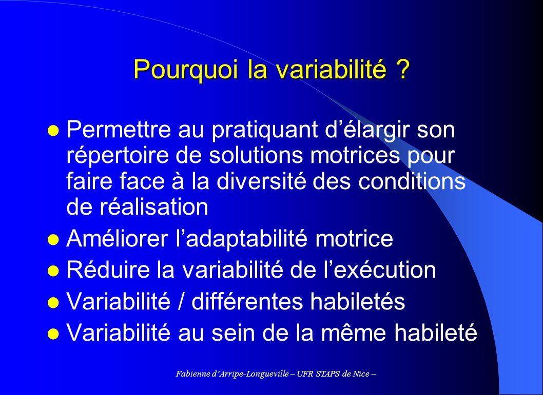 Pourquoi la variabilité