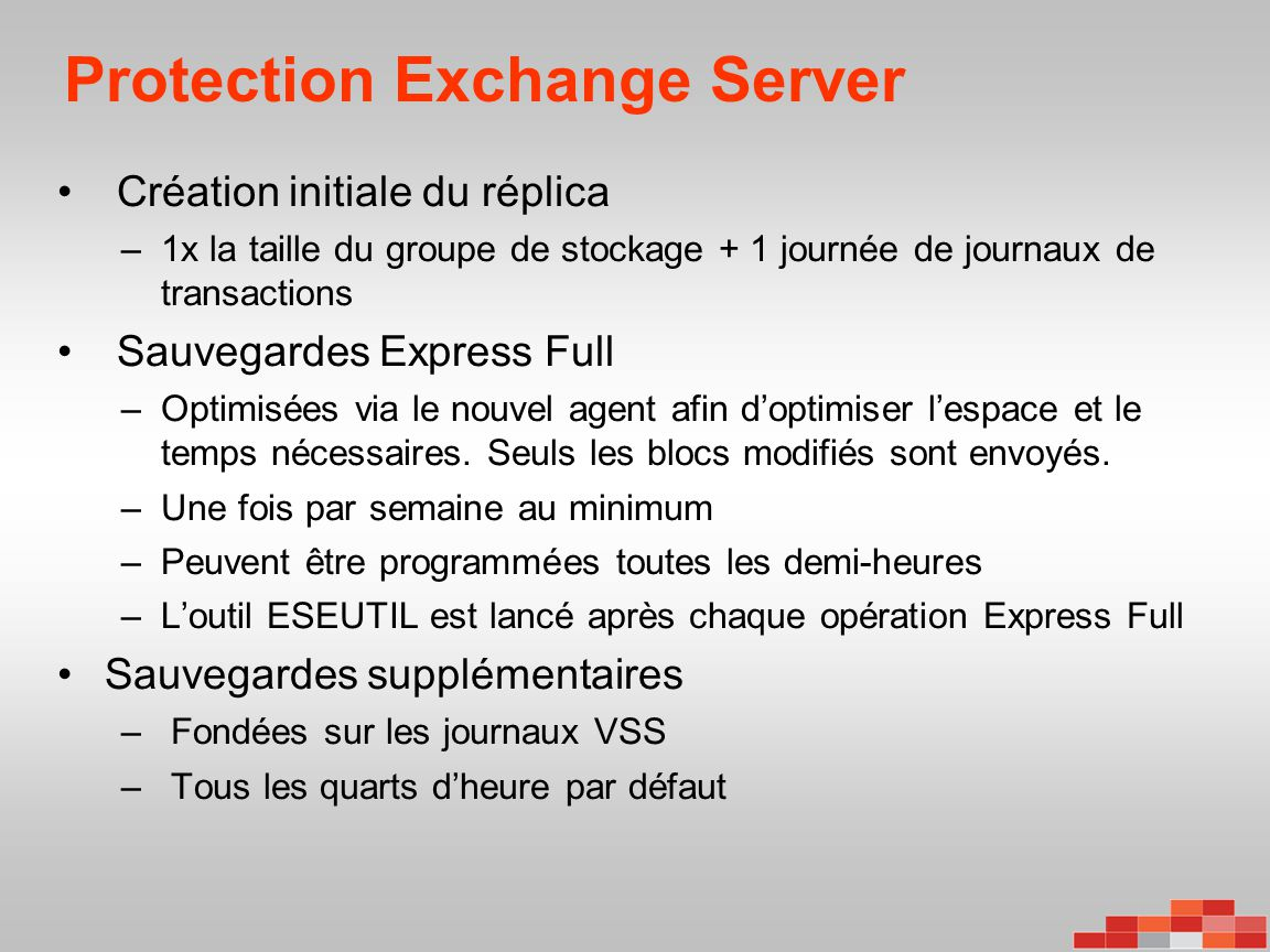 Protection Exchange Server