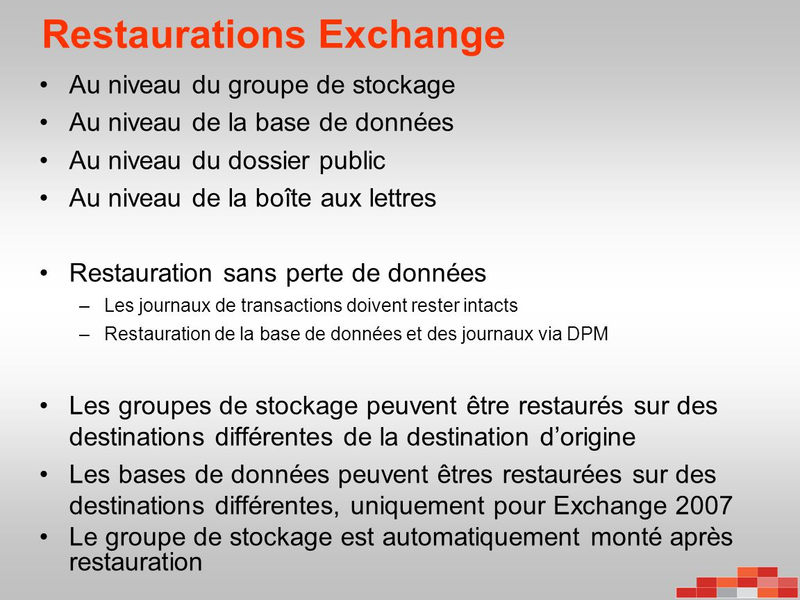 Restaurations Exchange