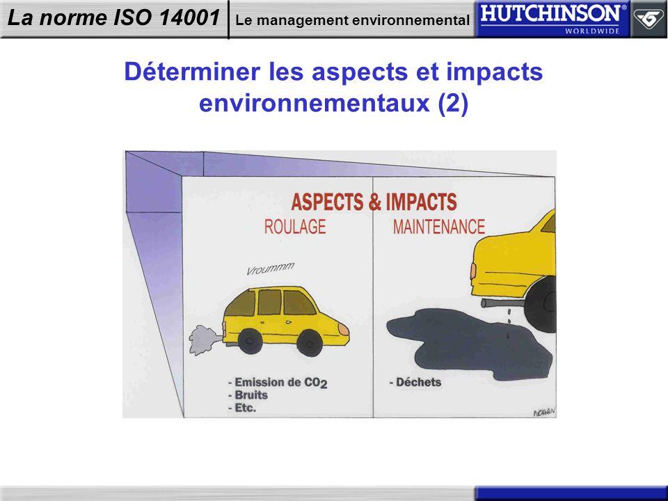 Déterminer les aspects et impacts environnementaux (2)