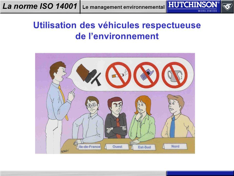 Utilisation des véhicules respectueuse de l'environnement