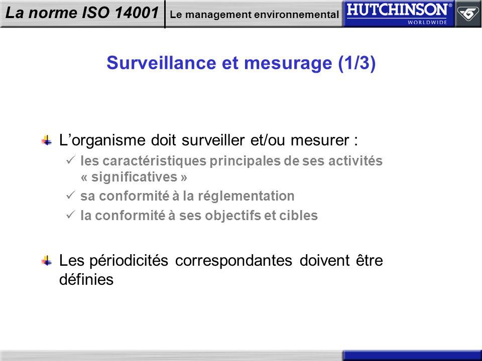 Surveillance et mesurage (1/3)