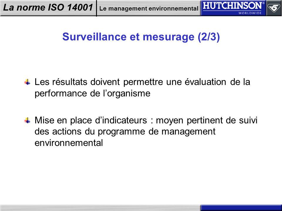Surveillance et mesurage (2/3)