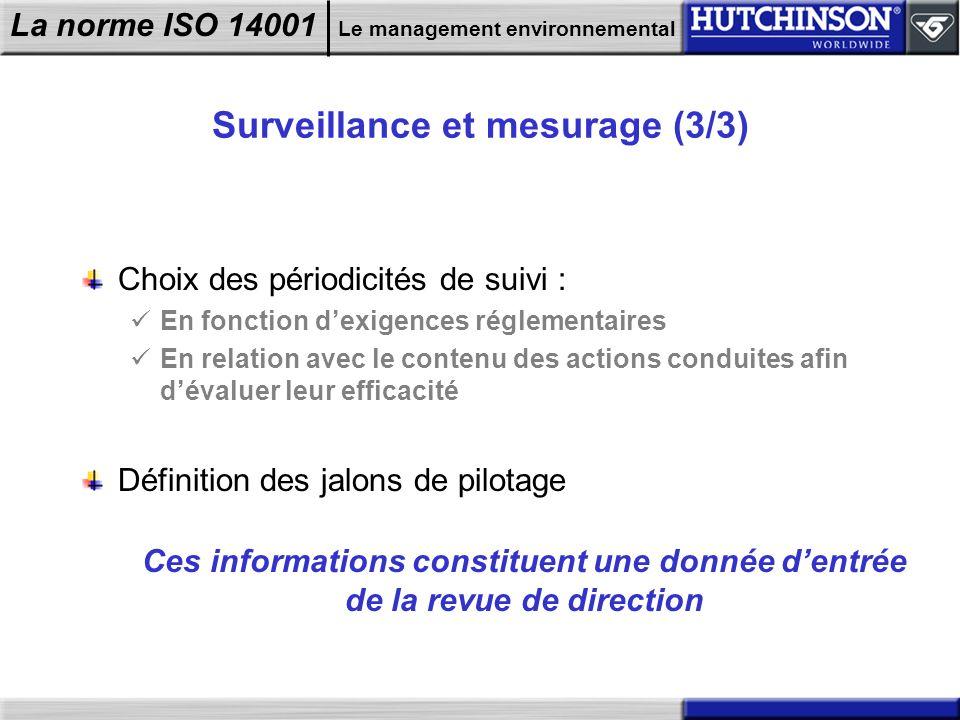 Surveillance et mesurage (3/3)