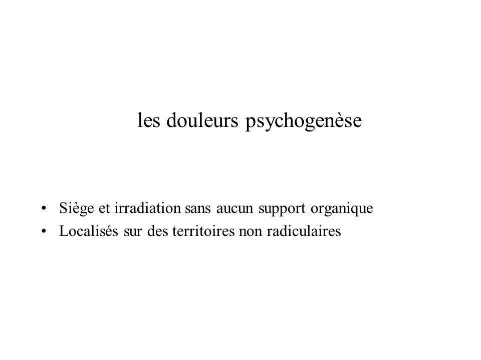 les douleurs psychogenèse