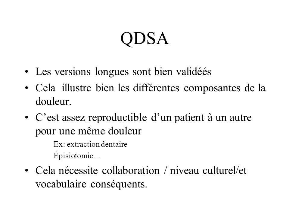 QDSA Les versions longues sont bien validéés