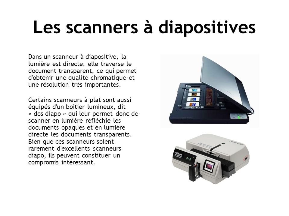 Les scanners à diapositives