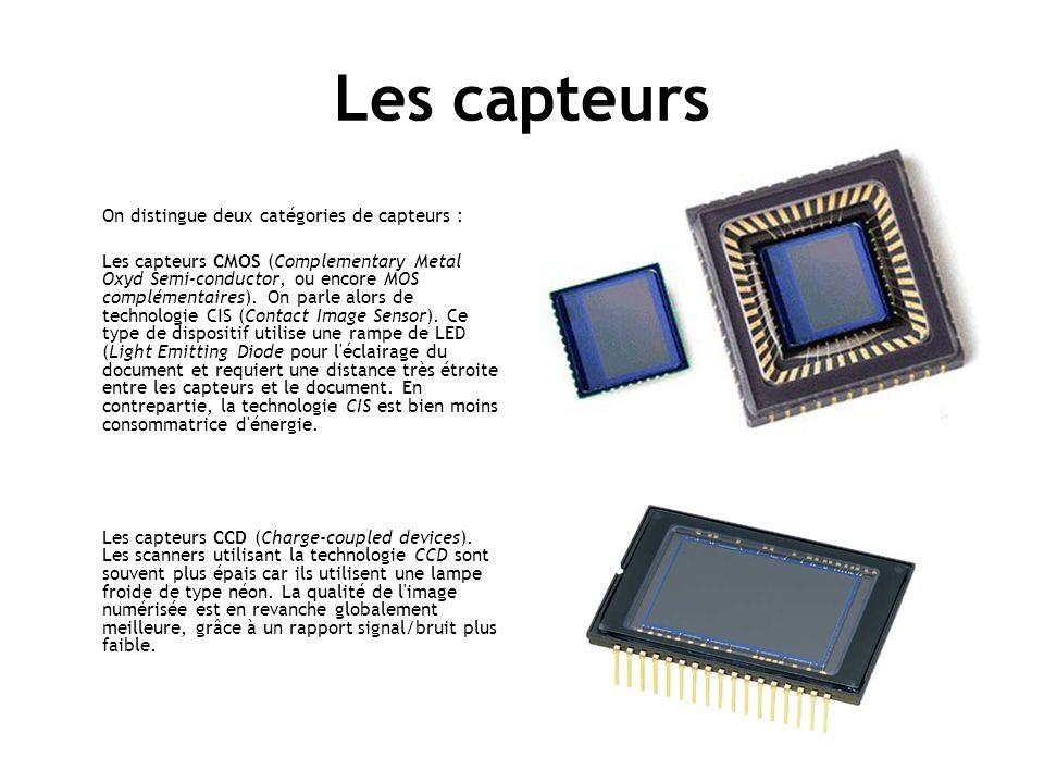 Les capteurs On distingue deux catégories de capteurs :