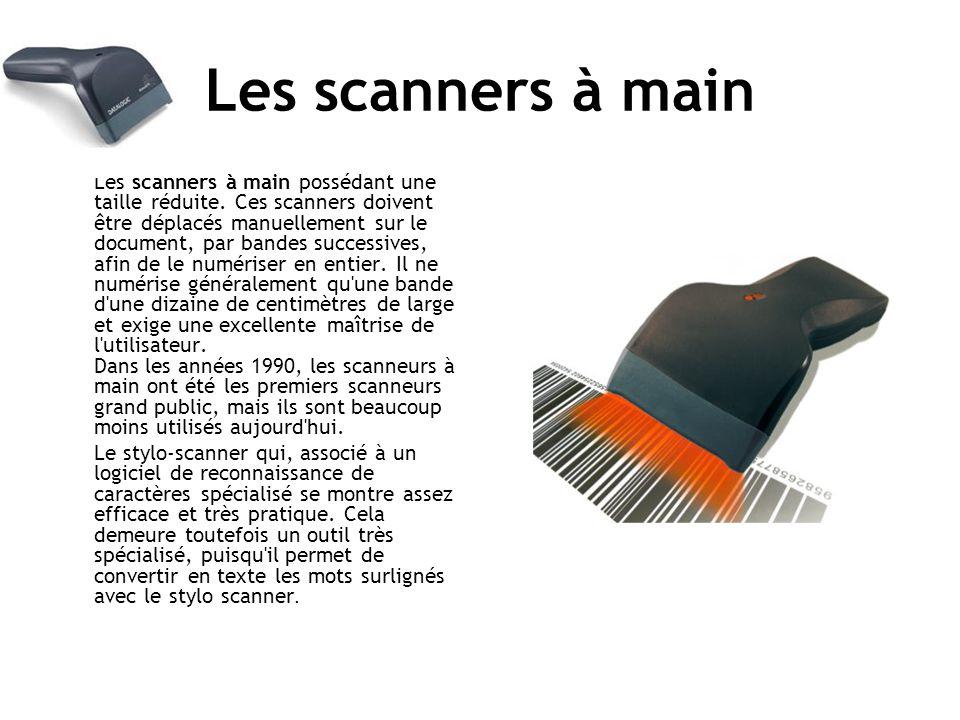 Les scanners à main