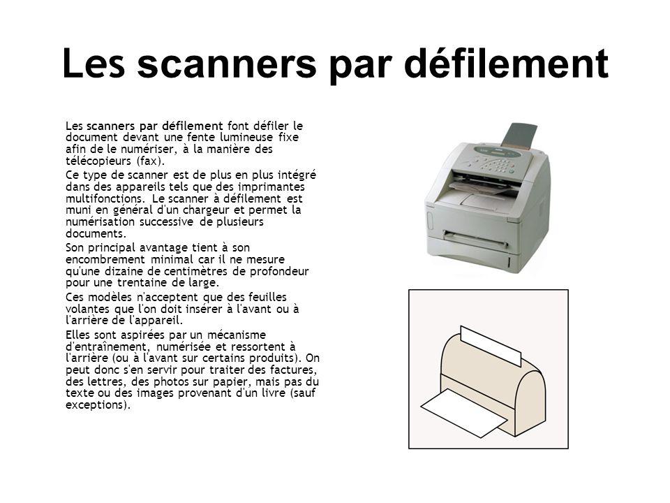 Les scanners par défilement