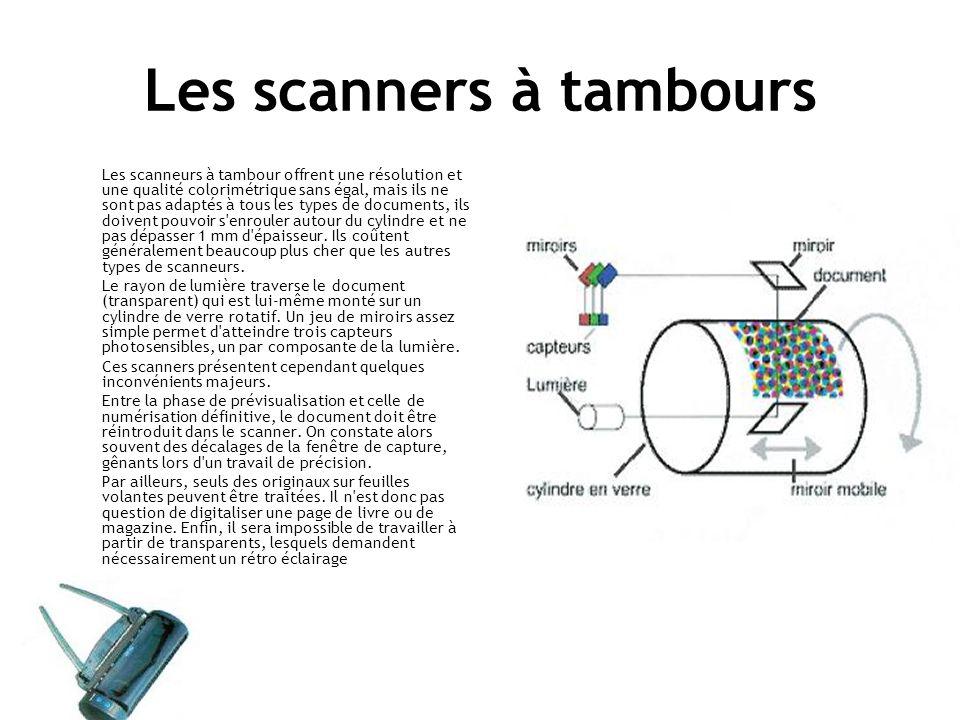 Les scanners à tambours