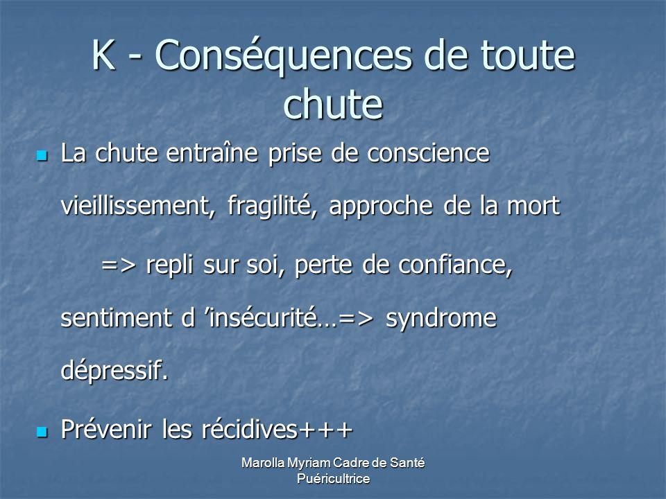 K - Conséquences de toute chute