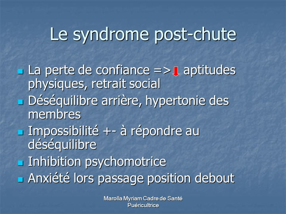 Le syndrome post-chute