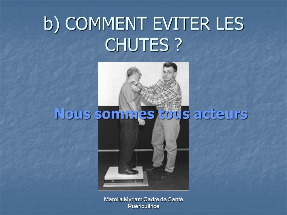 b) COMMENT EVITER LES CHUTES