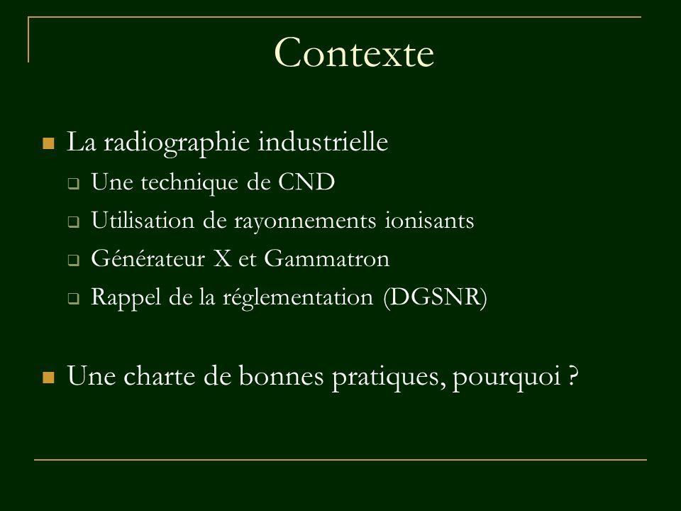 Contexte La radiographie industrielle