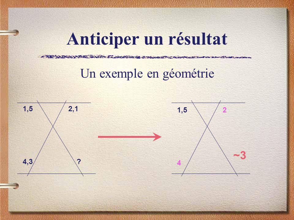 Un exemple en géométrie