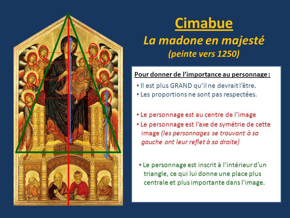 Cimabue La madone en majesté (peinte vers 1250)