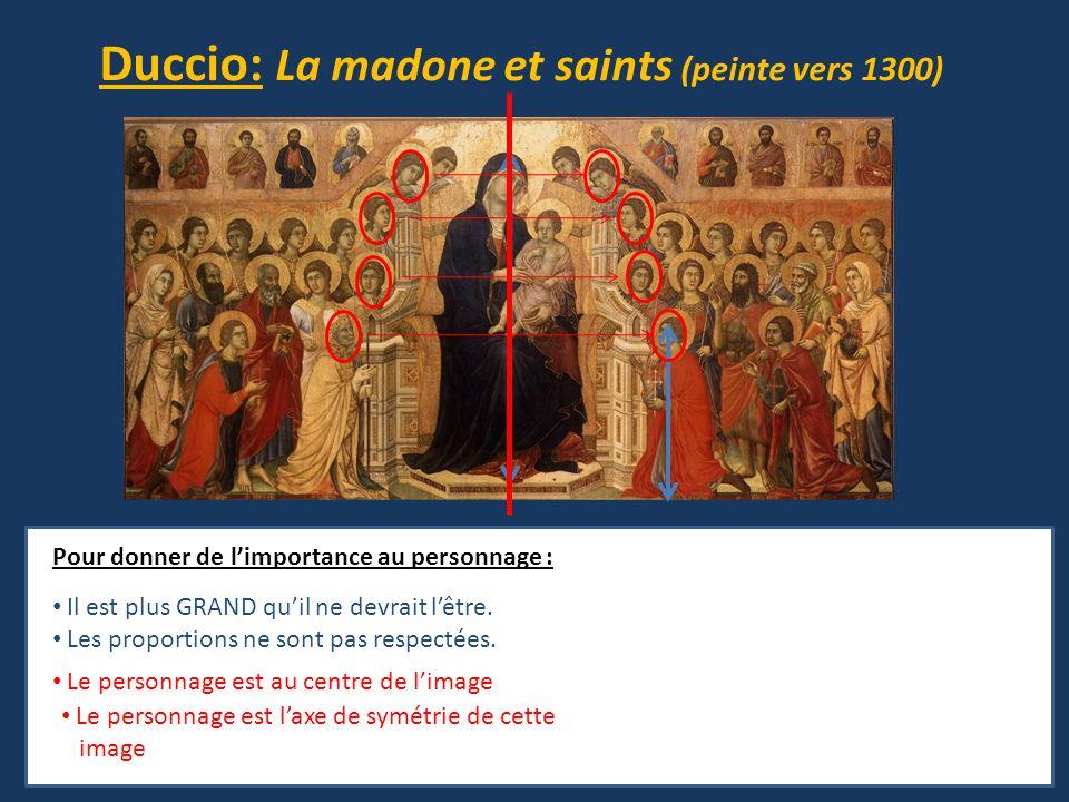 Duccio: La madone et saints (peinte vers 1300)