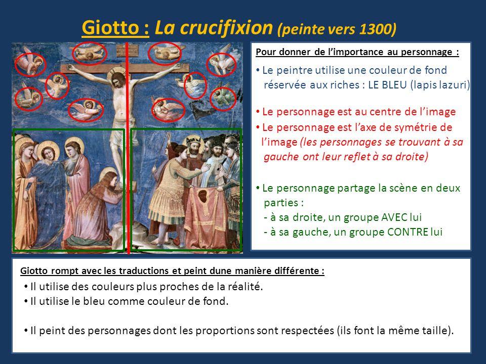 Giotto : La crucifixion (peinte vers 1300)