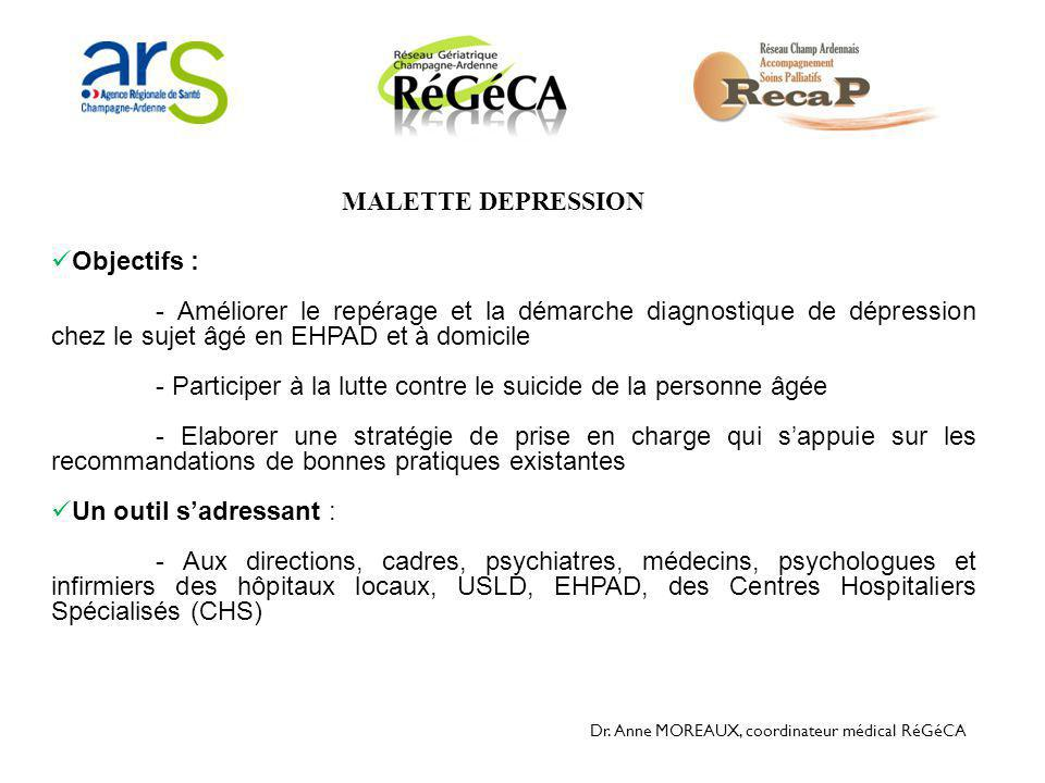 - Participer à la lutte contre le suicide de la personne âgée
