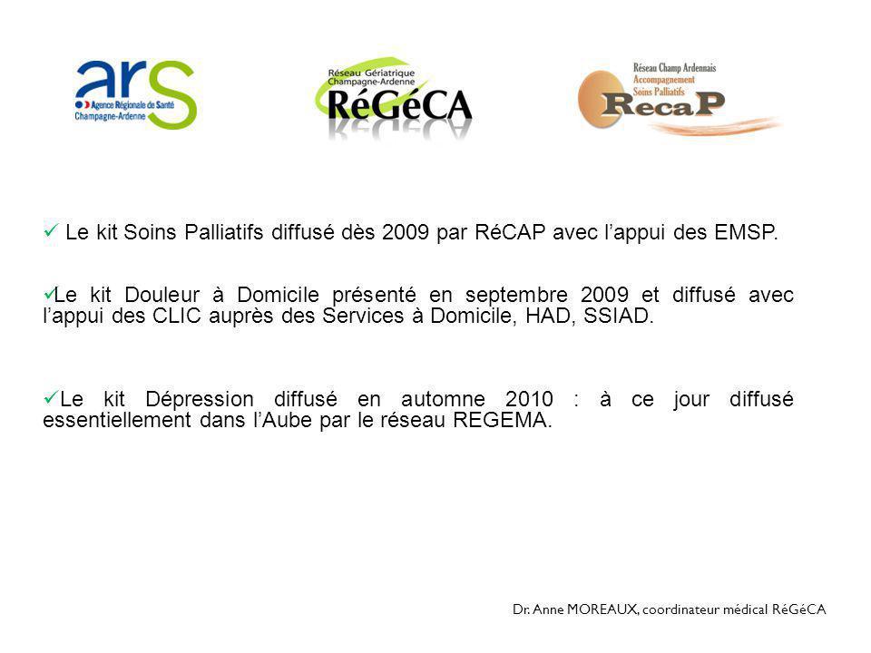 Le kit Soins Palliatifs diffusé dès 2009 par RéCAP avec l'appui des EMSP.