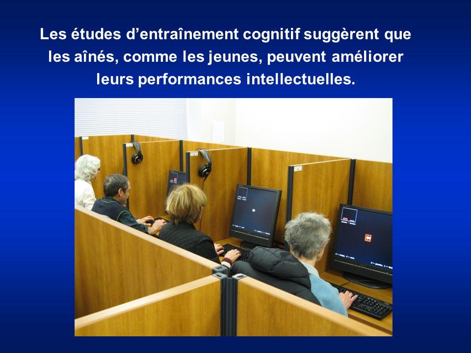 Les études d'entraînement cognitif suggèrent que les aînés, comme les jeunes, peuvent améliorer leurs performances intellectuelles.
