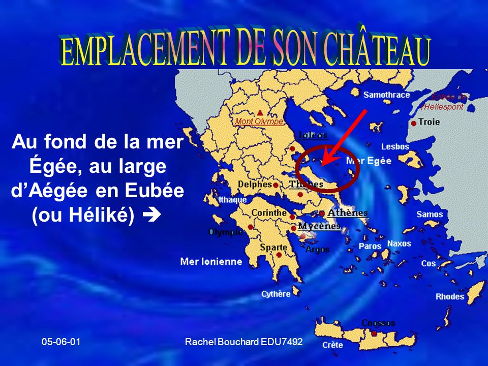 Au fond de la mer Égée, au large d'Aégée en Eubée (ou Héliké) 