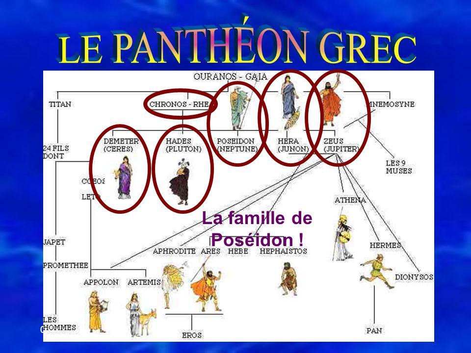 LE PANTHÉON GREC La famille de Poséidon ! 05-06-01