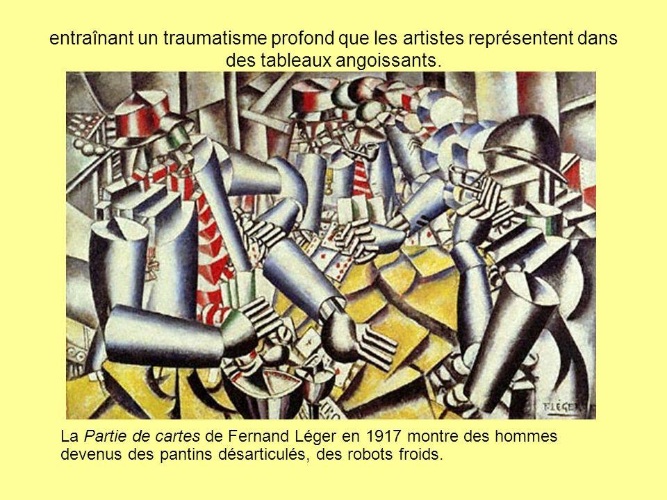 entraînant un traumatisme profond que les artistes représentent dans des tableaux angoissants.