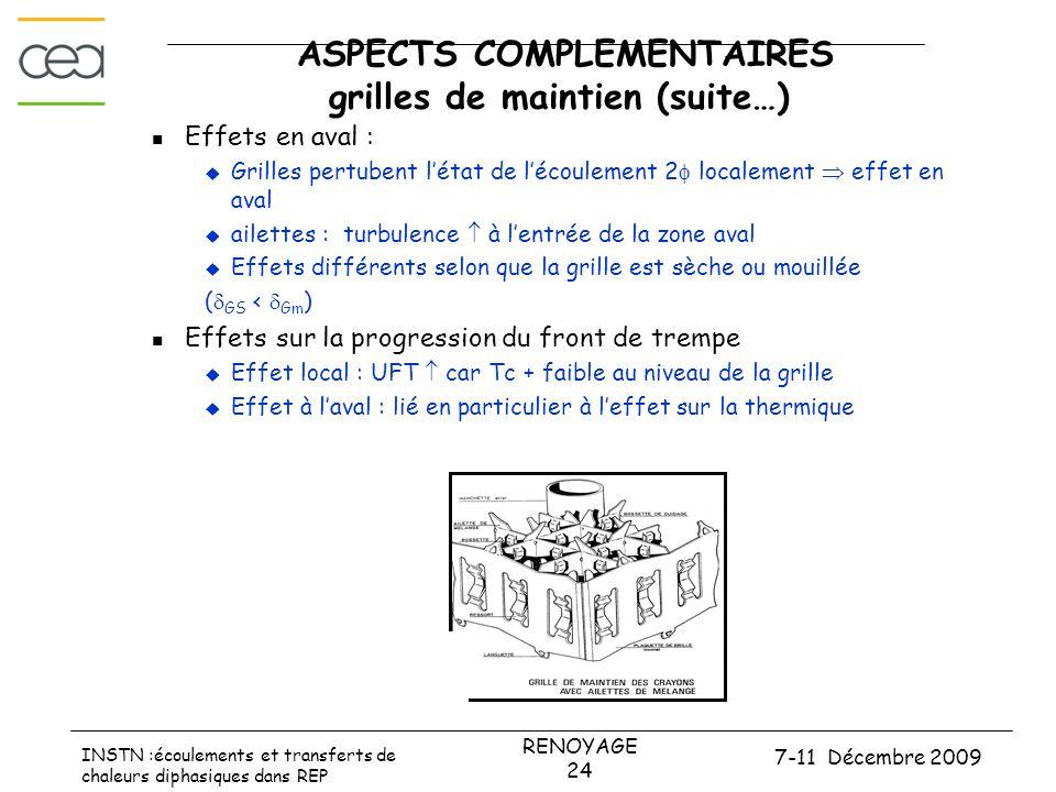 ASPECTS COMPLEMENTAIRES grilles de maintien (suite…)