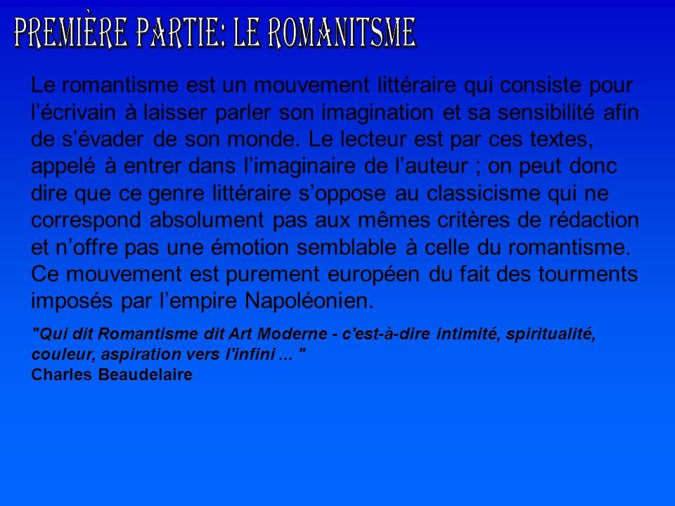 Première partie: Le Romanitsme