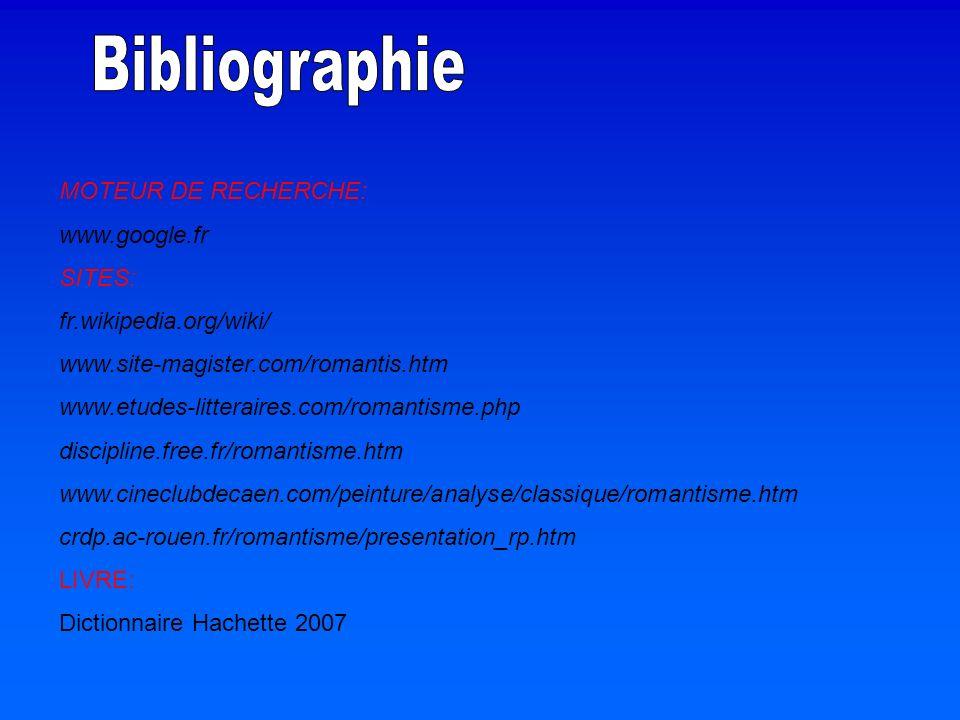 Bibliographie MOTEUR DE RECHERCHE: www.google.fr SITES: