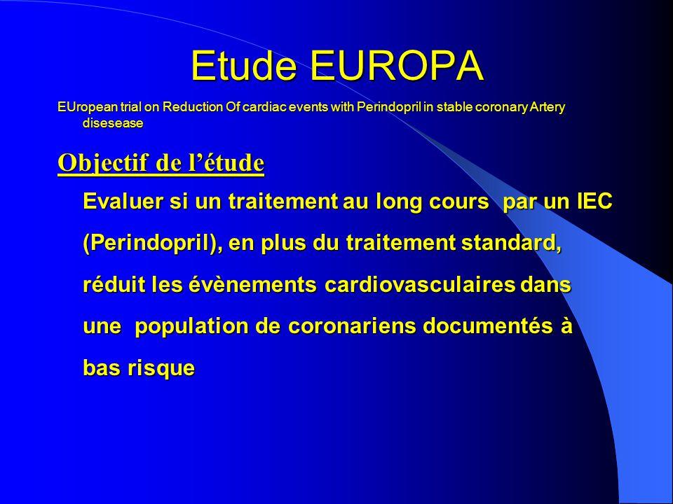 Etude EUROPA Objectif de l'étude