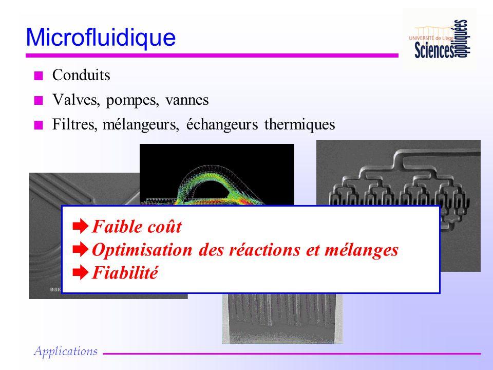 Microfluidique Faible coût Optimisation des réactions et mélanges