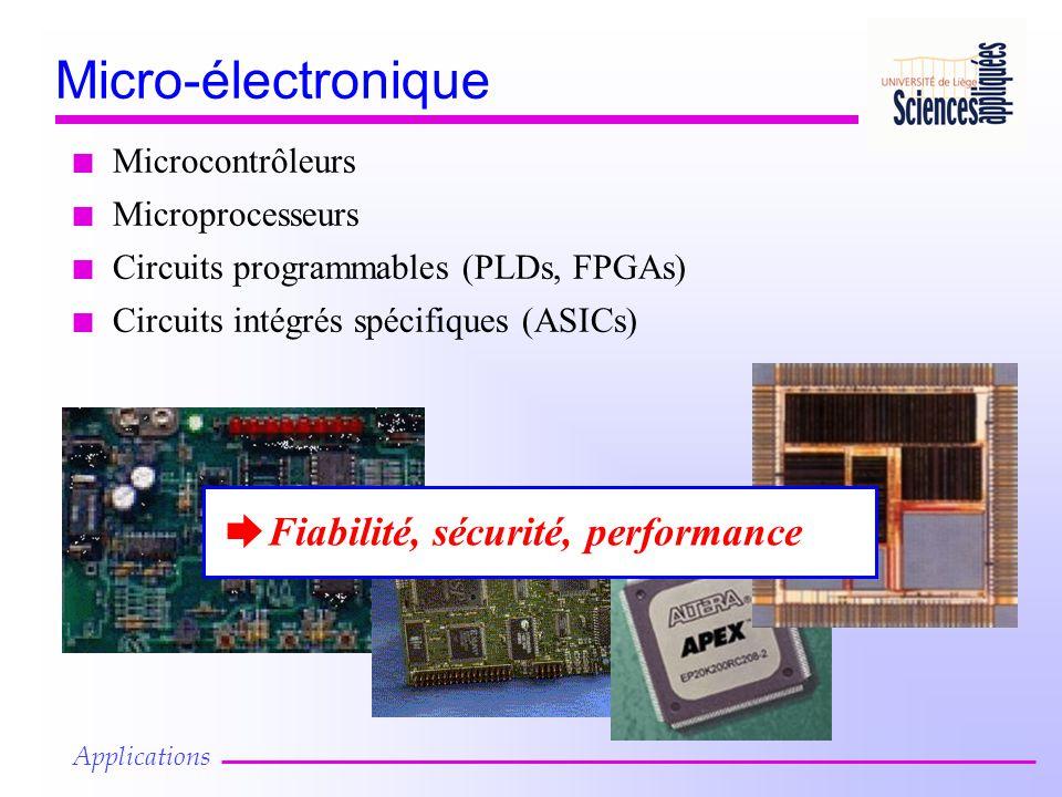 Micro-électronique Fiabilité, sécurité, performance Microcontrôleurs