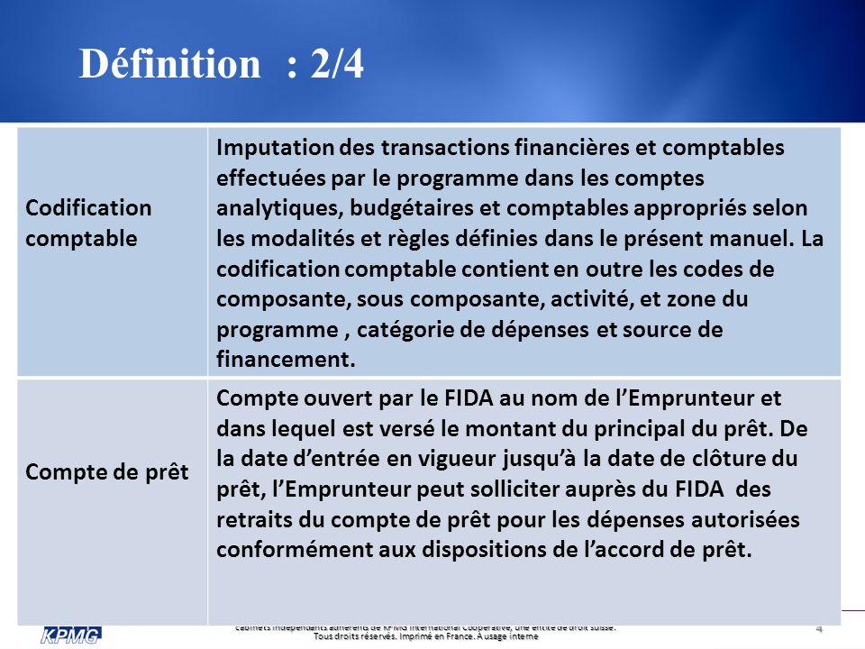 Définition : 2/4 Codification comptable