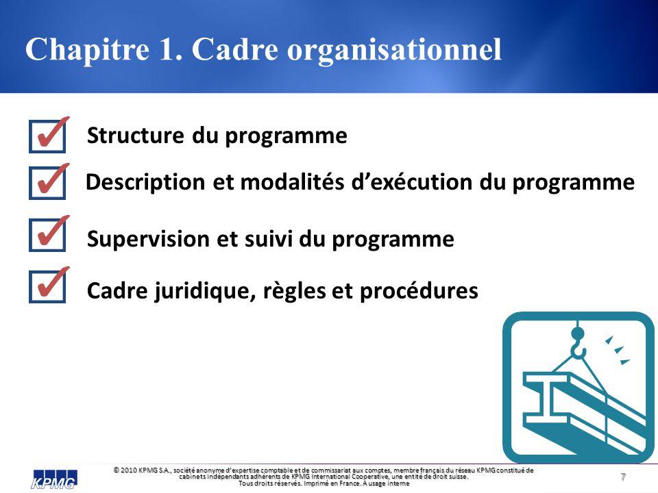 Chapitre 1. Cadre organisationnel
