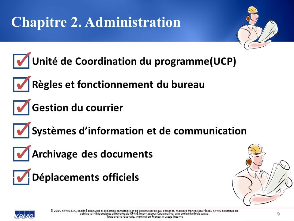 Chapitre 2. Administration