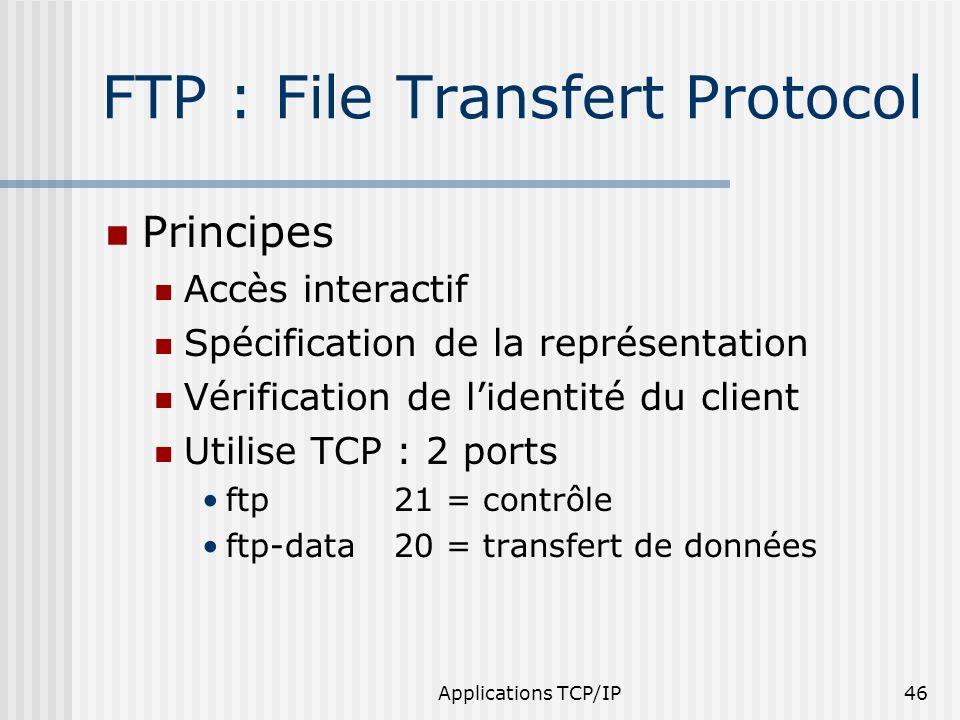 FTP : File Transfert Protocol