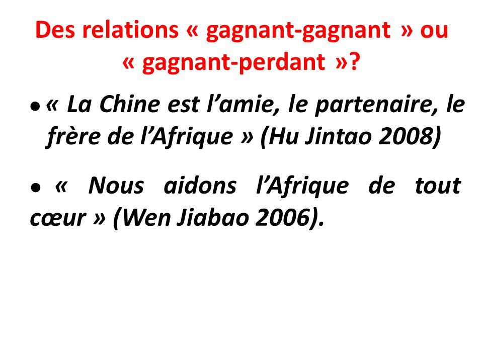 Des relations « gagnant-gagnant » ou « gagnant-perdant »