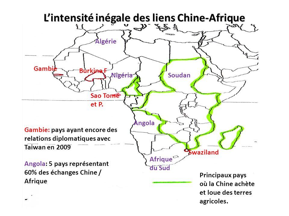 L'intensité inégale des liens Chine-Afrique