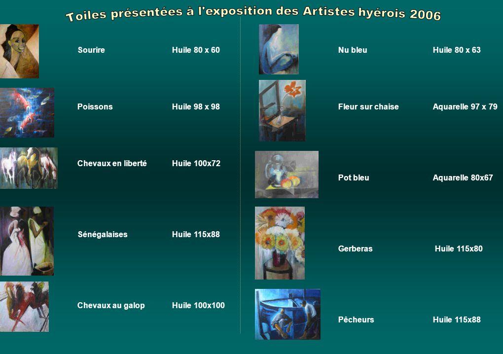 Toiles présentées à l exposition des Artistes hyérois 2006
