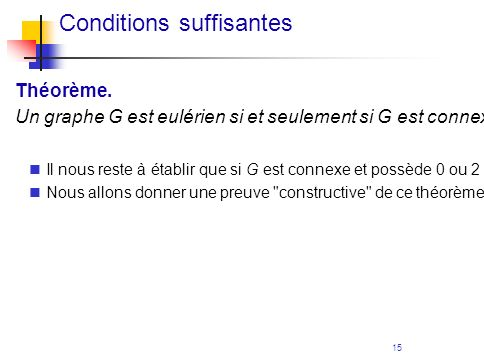 Conditions suffisantes