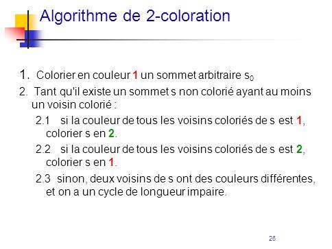Algorithme de 2-coloration