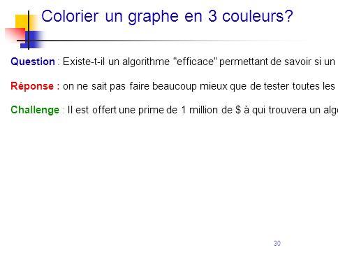 Colorier un graphe en 3 couleurs
