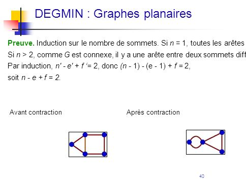 DEGMIN : Graphes planaires