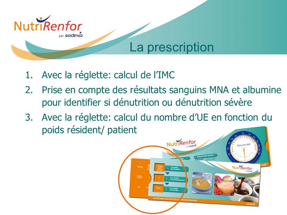 La prescription Avec la réglette: calcul de l'IMC