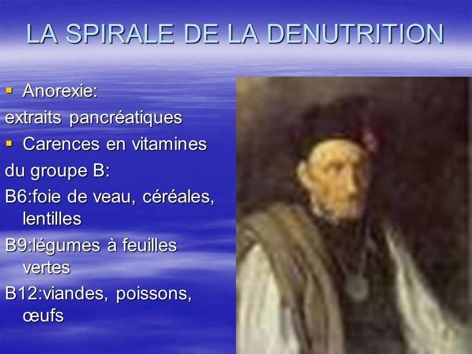 LA SPIRALE DE LA DENUTRITION