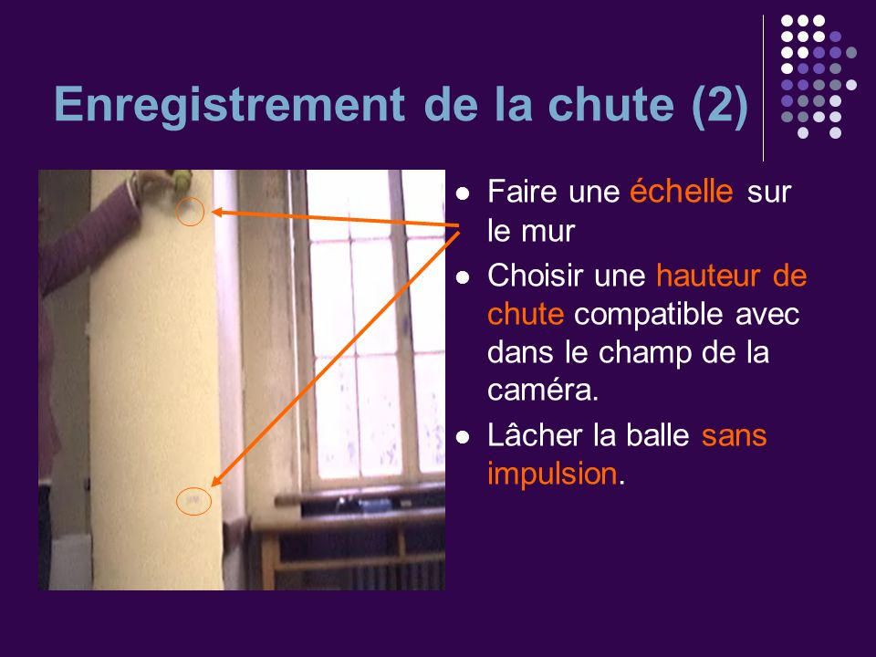 Enregistrement de la chute (2)