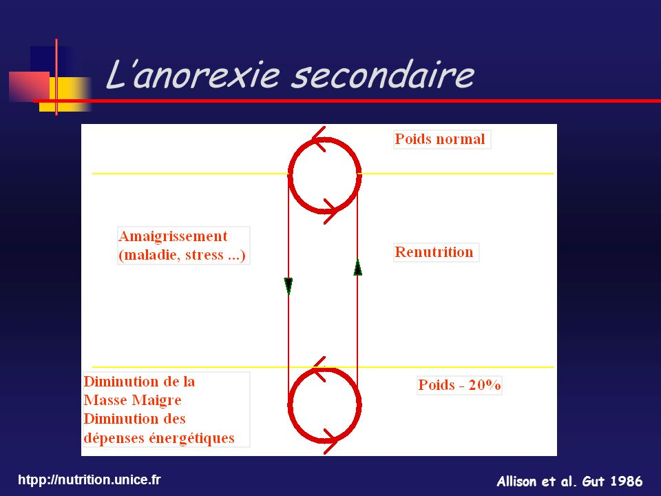 L'anorexie secondaire